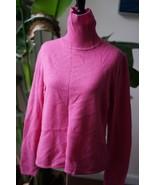 Worthington 100% cashmere pink turtleneck sweater L - $20.89