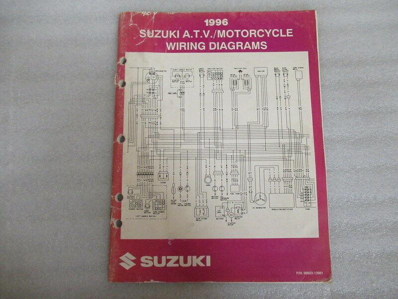 1996 Suzuki A.T.V./Motorcycle Wiring Diagrams Manual 99923-13961 - $7.69