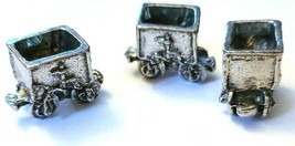 ORE CAR FIGURINE CAST WITH FINE PEWTER - Approx. 3/4 inch Long   (T160) image 2