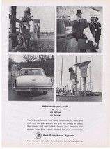 1964 Bell Telephone print ad Telephone Booth & other Public Telephones - $9.99