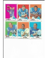 1969 Topps Baltimore Colts Team Set with Johnny Unitas, Earl Morrall - $34.00