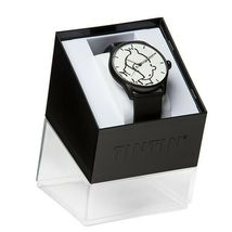 Tintin classic leather watch in action Large 82439 Official Moulinsart product image 2