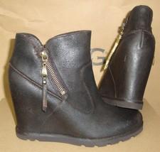 UGG Australia MYRNA Lodge Wedge Leather Sheepskin Boots Size US 6.5 NIB #1008715 - $76.18