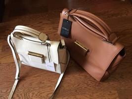 Furla Artesia Medium Leather Brown Satchel Handbag Bag $578 NWT - $363.84