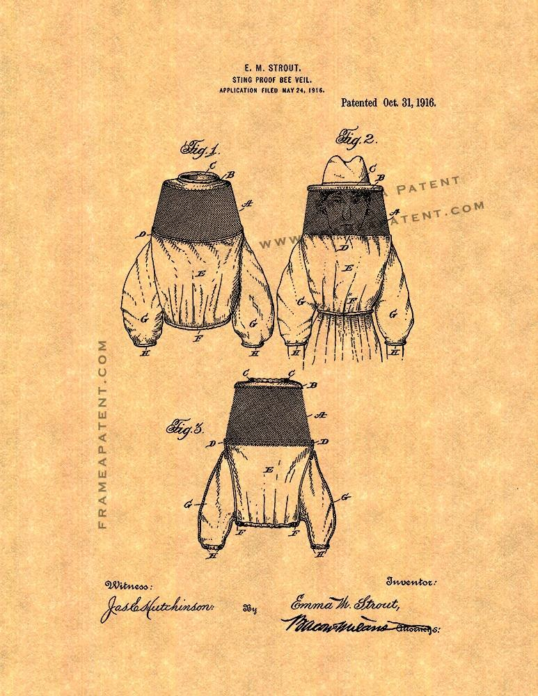 Primary image for Sting-proof Bee-veil Patent Print