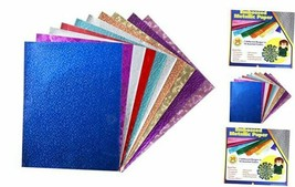 Embossed Metallic Foil Paper Sheets – Assorted Colors 8.5 x 10 Inch, 30... - $22.28
