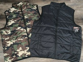 Swiss Tech ~ Men's Puffy Vest Camouflage Black 1-Vest ~ Choose Size & Color - $16.82+