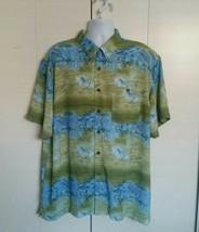 Untied Casual Button Down Hawaiian Aloha Shirt Men's Size XL GUC - $19.75