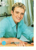 Justin Timberlake Nsync teen magazine pinup clippings 90's light blue shirt - $1.50