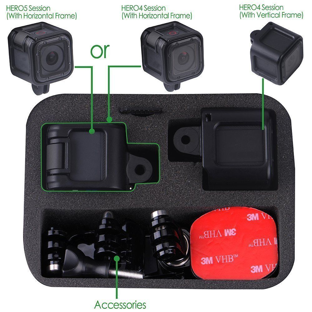 GS75 Shockproof Protective Storage Travel Carrying Case Gopro HERO 5/4