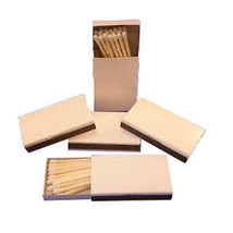 1000 Plain white cover wooden match  boxes matches (20 boxes of 50) - $212.85