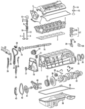 Genuine Mercedes-Benz Chain Guide 104-050-14-16 - $44.01
