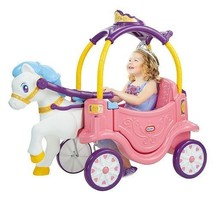 Little Tikes 2-in-1 Princess Horse And Carriage Ride On Toy Perfect Gift... - $219.94