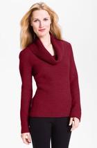 $168 XS Classiques Entier Parsival Red Cowl Neck Sweater Wool Alpaca - $24.74
