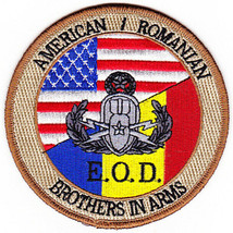 US Army EOD Explosives Ordinance Disposal American Romanian Patch 4.0'' X H 4.'' - $13.85
