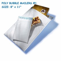 100 Poly Bubble Mailer Padded Shipping Envelopes Self Sealing Bags 8 x 1... - $37.21