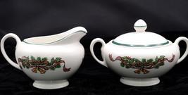 Johnson Brothers Victorian Christmas * Sugar Bowl & Creamer * England, Vgc - $18.99