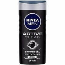 NIVEA Hombre Cuerpo Lavado, Active Limpiar Con Carbón, Gel de Ducha, 250ml (1) - $19.83