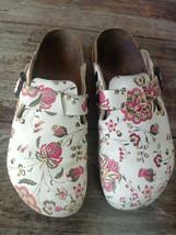 Used BIRKENSTOCK Papillio Boston Clog Women Sandal Shoes Sz 38 L7 M5 Flora - $24.70