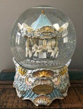 SAN FRANCISCO MUSIC BOX COMPANY Carousel NEPTUNE'S FANTASY WATER GLOBE L... - $145.12