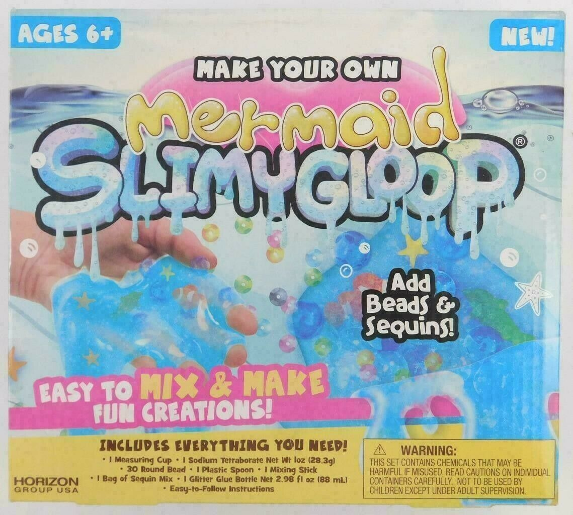 Make Your Own Mermaid Glitter Slimygloop Kit Mix and make Slime NEW sealed BOX