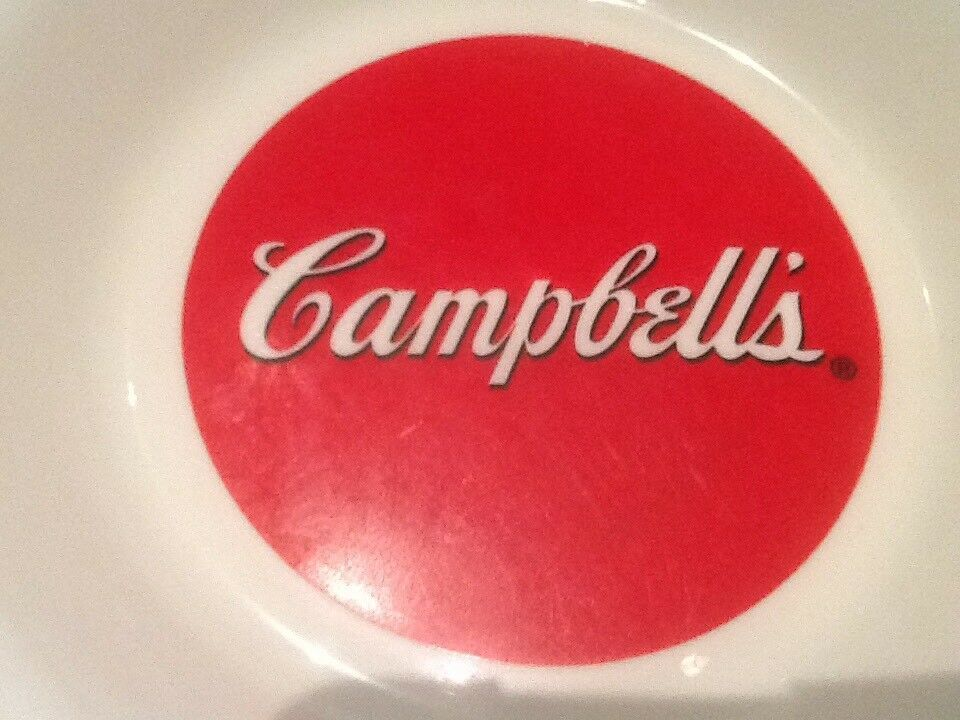 9 CAMPBELL SOUP BOWLS ARCOPAL FRANCE GOOD FOR THE BODY GOOD FOR THE SOUL NICE image 10