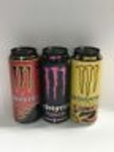 Monster Energy Drink Lewis Hamilton, The Doctor & Mixxd Full Cans. Has F... - $39.99
