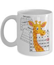 April The Giraffe Baby Calf Birthday Calendar Keepsake Mug - $15.99