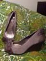 Gianni Bini 7.5M Women's LIGHT/DARK Brown Wedge Heel Pumps Rounded Toe W/BUCKLE - $26.72