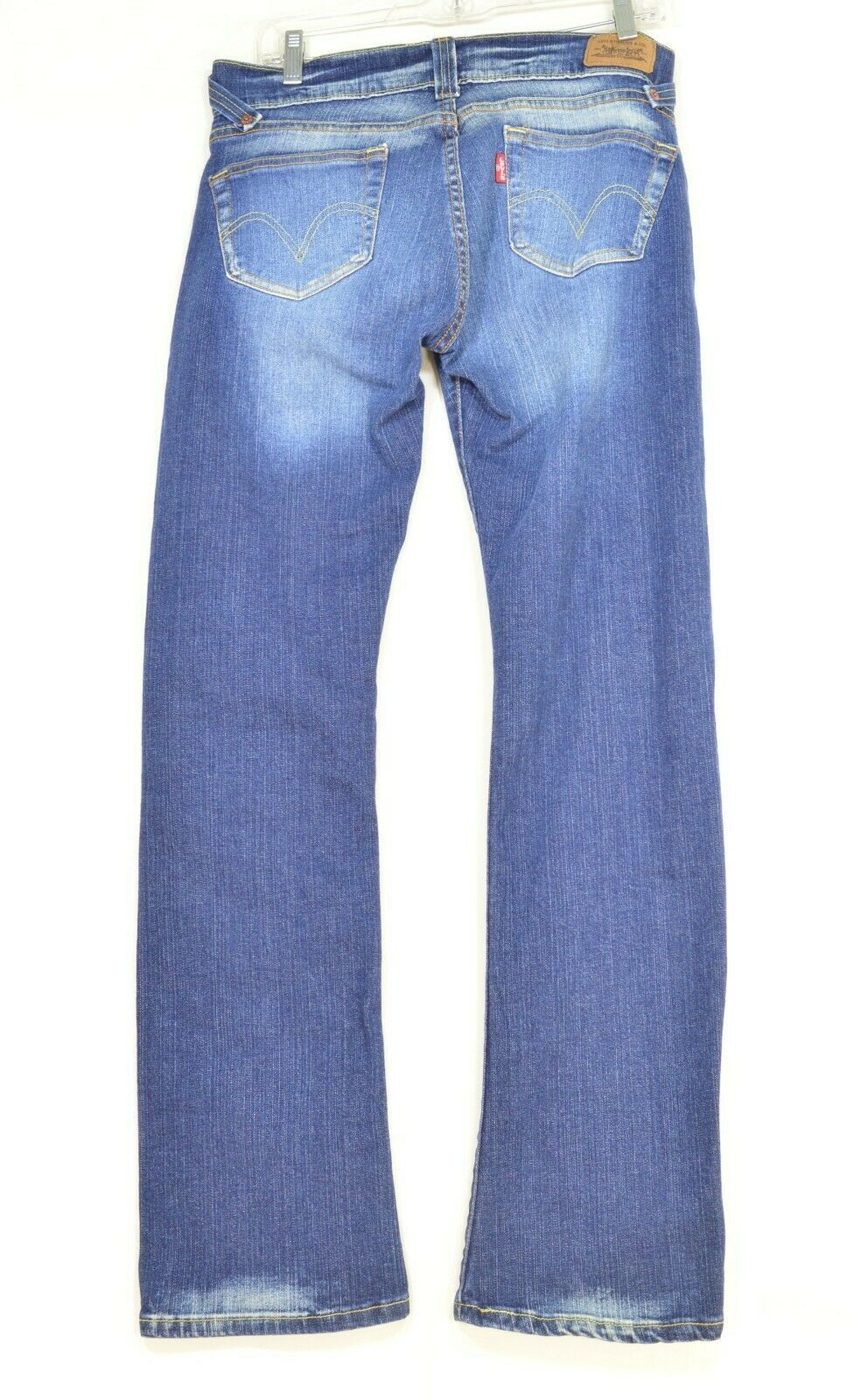 Levi 504 7 x 32 slouch straight leg low rise dark wash image 2
