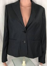Mango ladies suit jacket bloody polyester viscose wool size L - $23.08