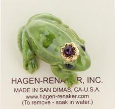 Hagen-Renaker Miniature Ceramic Frog Figurine Birthstone Prince 02 February image 3