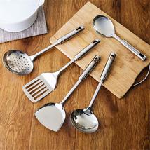 MOM'S HAND 5Pcs/Set Stainless Steel Kitchen Utensil Set Kitchen Cooking ... - £22.18 GBP
