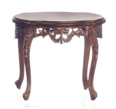 Dollhouse Miniatures Walnut Royal Etienne End Table #P6362 - $57.99