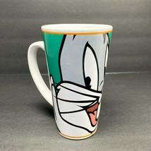 Vintage Bugs Bunny Looney Tunes Green 16 oz Coffee Mug - Warner Bros 1998  - $18.95