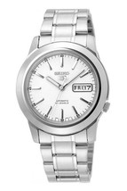 Seiko Automatic SNKE49 SNKE49K1 Men White Dial Day Date Stainless Steel Watch - $66.00