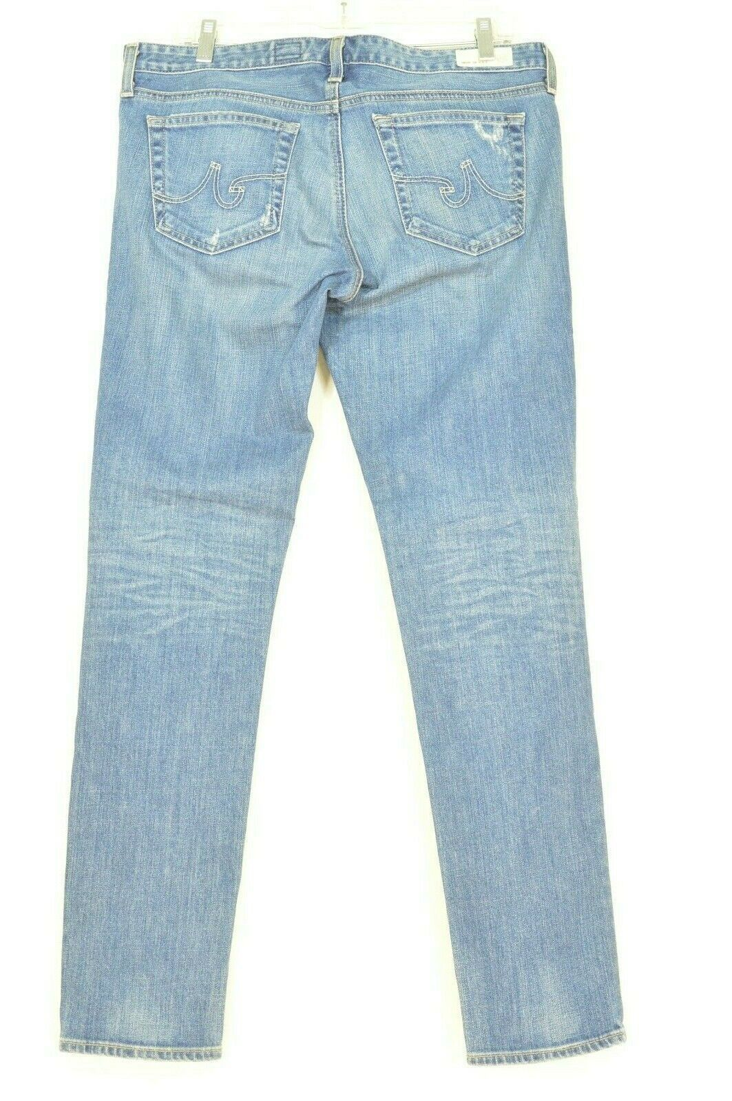 AG Adriano Goldschmied jeans 31 x 31 Stilt cigarette leg 17Y - SVT destroyed USA image 8