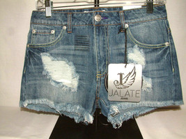 #662 SUPER FABULOUS JALATE JEAN SHORTS, SIZE 3, EMBROIDERED BACK POCKET,... - $10.88