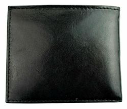 New Guess Men's Leather Credit Card Id Wallet Passcase Bifold Black 31GU22X018 image 5