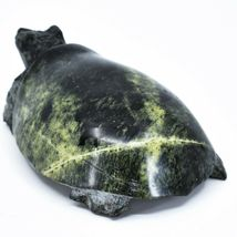 Hand Carved Zimbabwean Serpentine Stone Box Turtle Sculpture Figurine image 3