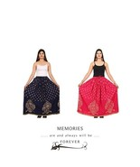 Set of 2 Rajasthani Traditional Skirt Long Maxi Belly Dancing Elegant Skirt - $35.17