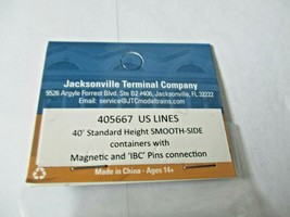 Jacksonville Terminal Company # 405667 US Lines 40' Standard Container (N image 2