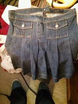 Juicy Couture Jeans Womens Blue Solid Skirt Sz M Above Knee Cotton Blend... - $21.02