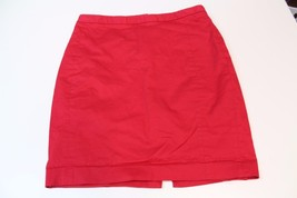 W13121 Womens EXPRESS Red STRETCH Short with Slit Pencil STRAIGHT SKIRT 6 - $28.97