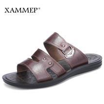 Summer Genuine Shoes Men Casual Xammep Men Sandals Shoes Leather Beach Men Split Oxtwdq0d