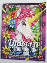 UNICORN Adult Coloring Book NEW Jade Summer Fantasy Magical Animals - $13.99