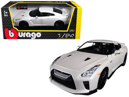 2017 Nissan GT-R R35 White 1/24 Diecast Model Car by Bburago - $34.37
