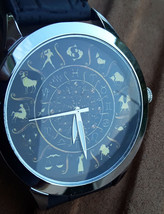 ASTROLOGY ZODIAC CIRCLE PALMISTRY ART COLLECTIBLE 40 mm UNISEX WRIST WATCH - $63.43