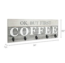 Barnyard Designs 'Ok, But First Coffee' Mug Holder - Rack - Display, Rustic Farm image 6
