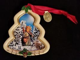 "Hummel Christmas Ornament Danbury Mint Tree Shaped ""Celestial Musician"" - $8.15"